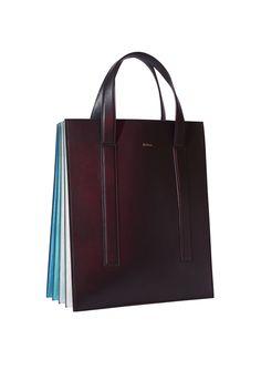 Paul Smith RTW Spring 2016 нескучная сумка - первое строгое впечатление сразу развеется как только в поле зрения попадут веселые цветные складки боковины