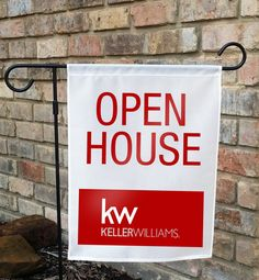 Keller Williams Open House Yard Flag  Can be by newhometraditions