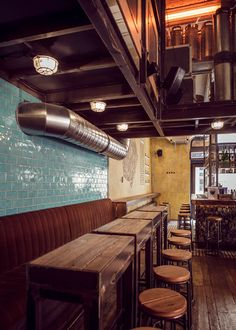 Coffee Shop Design | Retail Design | MÉTER BAR Budapest by Peter Szendrő, via Behance