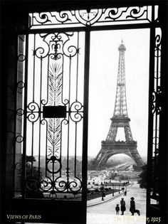 Views Of Paris Black And White Eiffel Tower Photo Art Print Sally Gal WIth Stretched Canvas Option on Etsy, $14.95