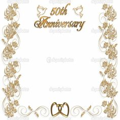 Th Wedding Anniversary Invitation Templates Free Sample Wedding - Wedding invitation templates: golden wedding anniversary invitations templates