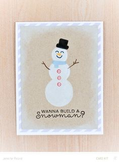 Do you wanna build a snowman?! by JennPicard at @studio_calico - stamped card