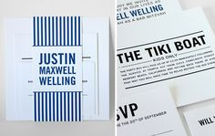 The Fine Print a Blog by Dauphine Press.  Invitation with Paper Plane Paperie. #barmitzvah #invitation #letterpress