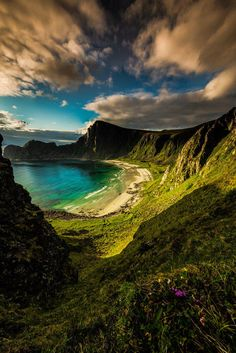 A beautiful hidden beach in Norway