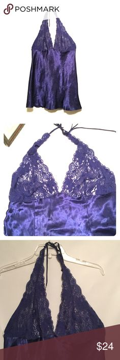 NWOT § FREDERICKS of Hollywood    Lace Babydoll New without tags  - lace halter style - lace goes all up & around  - then ties around neck - satin feel on bottom  - slits on bottom ( 3 )   Beautiful, sexy n you got this girl!,   So work it! 💝💝💝💋💋 Frederick's of Hollywood Intimates & Sleepwear