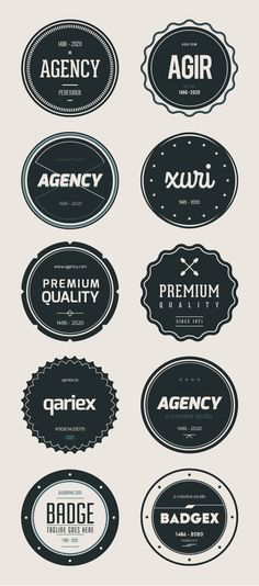15 Modern Vintage, Retro PSD Badges