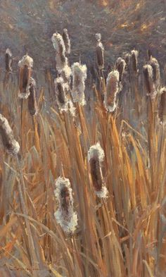 Just look at this...if I tried to paint this scene it would look like brunt marshmallows on dead corn stalks. Clyde Aspevig