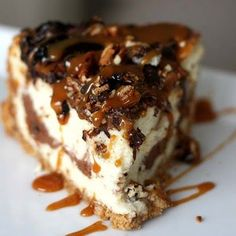 Ultimate Turtle Cheesecake (I won my fight over cheesecake today!!  But I'm saving this recipe for a future low self control day!)