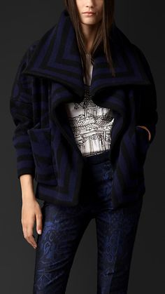 Jaqueta blanket de tricô | Burberry
