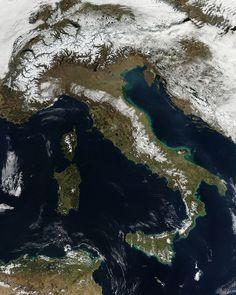 NASA image of Italy