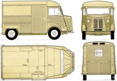 CAR blueprints - 1980 Citroen H Van blueprint