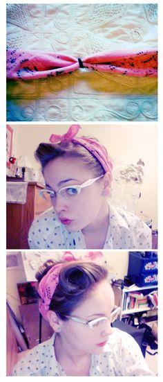 A way to keep your bandana/headband from riding up! finally :}