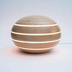 MOOD | Ellips lamp | Birch wood | design by Leon van Zanten