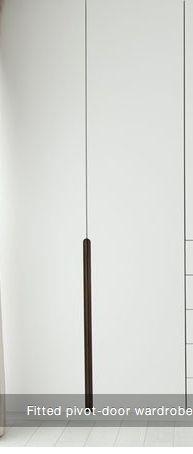 Routed wardrobe door handles