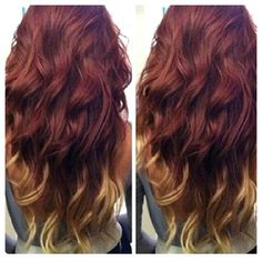 Cute. Red with blond tips