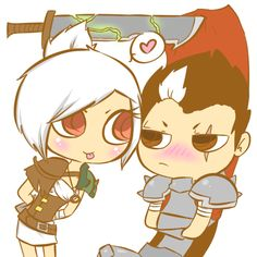 A cute Riven x Darius