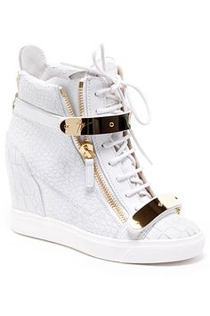 white high tops with a zipper
