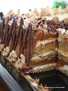 OVO je torta koju sam napravio,ja i jos par miliona korisnika interneta Russian Desserts, Russian Recipes, Sweet Recipes, Cake Recipes, Dessert Recipes, Cake Cookies, Cupcake Cakes, Kolaci I Torte, Serbian Recipes