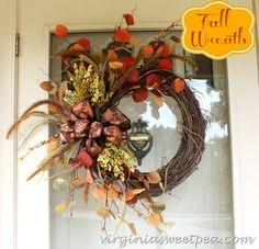 Fall Wreath 2014 by virginiasweetpea.com #fall #BestofDIY