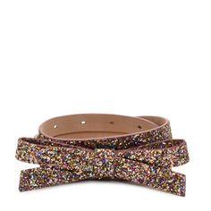kate spade | glitter bow belt