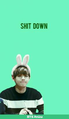Rapmonster! SHIT DOWN! #v #taehyung #bts