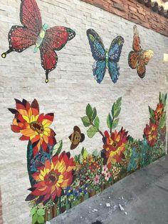P Mosaico sobre pared