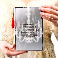 Halloween Inspired Wedding Invitations for Autumn Weddings