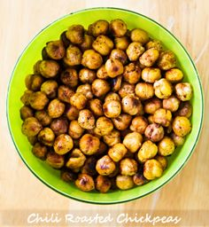 Chili-Lime roasted chick peas. Yum!