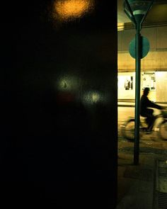 Human Abstraction  #skantzman #manolisskantzakis #photography #colour #bike #night #reflection #pentax #k200d #28mm #heraklion #crete