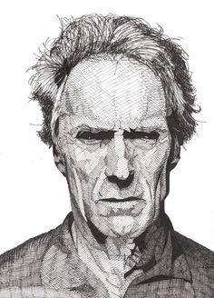 Clint Eastwood by Rik Reimert