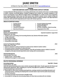 Professional Resume Samples For Accountants  Free Resume Examples