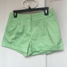 Pastel green shorts Pastel green shorts from Forever 21! So cute but don't quite fit me anymore. Worn for a summer but still in great condition with some piling around the crotch area. With belt loops for fun accessorizing. Forever 21 Shorts