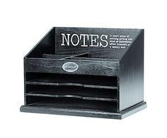 Postbakje Notes, zwart, B 35 cm