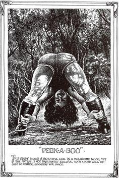 "Robert CRUMB 1996 - #4 from ART & BEAUTY MAGAZINE #1 - Fantagraphics Books, Washington U.S.A. ""… beautiful girl in a frolicsome mood..."