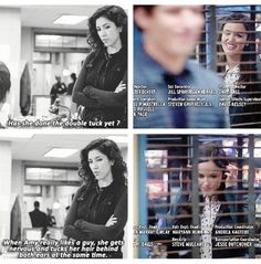 In honor of Jake and Amy finally getting together in the season three premiere of Brooklyn Nine Nine, let& take a look at some of their cutest and most adorable moments. Office Humor, Funny Office, Office Fun, Brooklyn Nine Nine Funny, Detective, Jake And Amy, Jake Peralta, Funny Quotes, Funny Memes