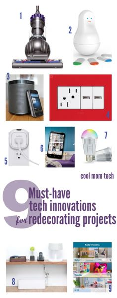 Top tech innovations for redecorating projects -- and not as pricey as you might think. Awesome.
