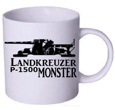 Tasse Landkreuzer P1500 Monster / mehr Infos auf: www.Guntia-Militaria-Shop.de
