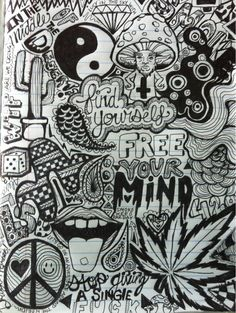 35 Ideas for hippie art drawings doodles Trippy Drawings, Tumblr Drawings, Doodle Drawings, Art Drawings Sketches, Drawing Art, Drawing Ideas, Sand Drawing, Mandala Drawing, Hippie Drawing