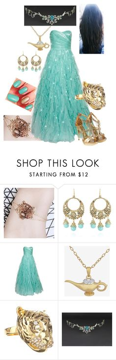 """Disney - Princess Jasmine"" by briony-jae ❤ liked on Polyvore featuring Cuteberry, Talullah Tu, Naf Naf and Kardashian Kollection"
