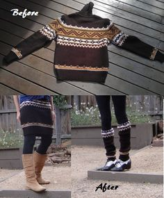 recycle sweater, sewing tutorial, upcycle diy