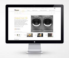 Whirlpool Website Redesign by Karen Dringenberg, via Behance
