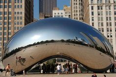 Cloud Gate (affectionately known as The Bean) - 2004 Chicago, IL. Artist Anish Kapoor.