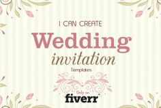 ratheeshr: create WEDDING invitation templates 24h for $5, on fiverr.com