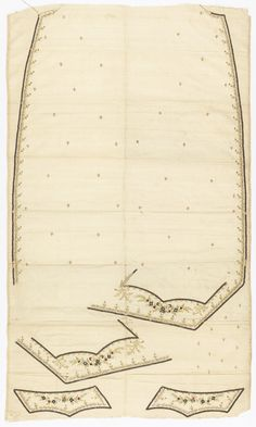 Uncut Waistcoat, late 18th century. Cooper Hewitt.