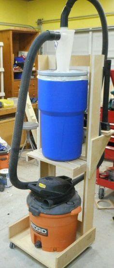 Shop Vac + Dust Deputy + Larger Drum Cart