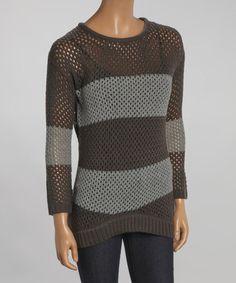 Look what I found on #zulily! Charcoal & Heather Gray Stripe Sweater by Yoki #zulilyfinds