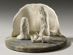 Paperclay Nativity scene - Fine Artist Maryclaire Jordan - Sculpture and Art Jewelry