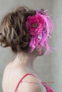 Pink Feather Flower Hairpiece Clip  #wedding #rubyblooms #hairpiece #headpiece #hairstyle #haircomb #fascinator #blushpink #broochbouquet #gaywedding #pinkgirl #hotpink #hairfashion #pinkhair #justengaged #engaged #socal #weddingday #sandiegowedding #weddingplanner #chicagowedding #losangeleswedding #bridalaccessories #pinkwedding #weddingjewelry #newyorkwedding #nywedding #weddinggown #designer #bridaldress #sdwedding #chic #shesaidyes #glamorous