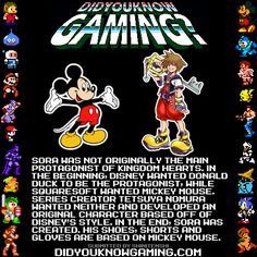 Mickey Mouse or Donald Duck could have been the main character for Kingdom Hearts?