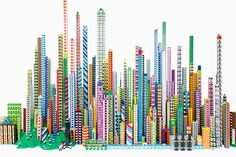 laird kay's LEGO city critiques the artificial architecture of modern megacities